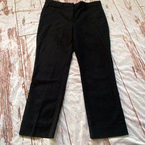 Gap Tailored crop pants-black-size 10R